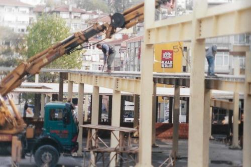 Beşiktaş Cumartesi Pazarının Yeni Yerinin İnşaatı Hızla Devam Ediyor
