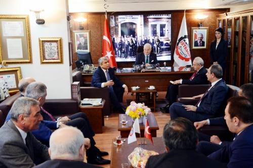 CHP Lideri İSTESOB'u Ziyaret  Etti