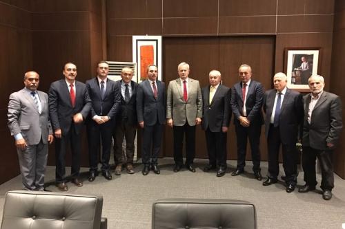 Oda Başkanı Mesut Şengün Şişli Belediye Başkanı Hayri İnönü ile görüştü.